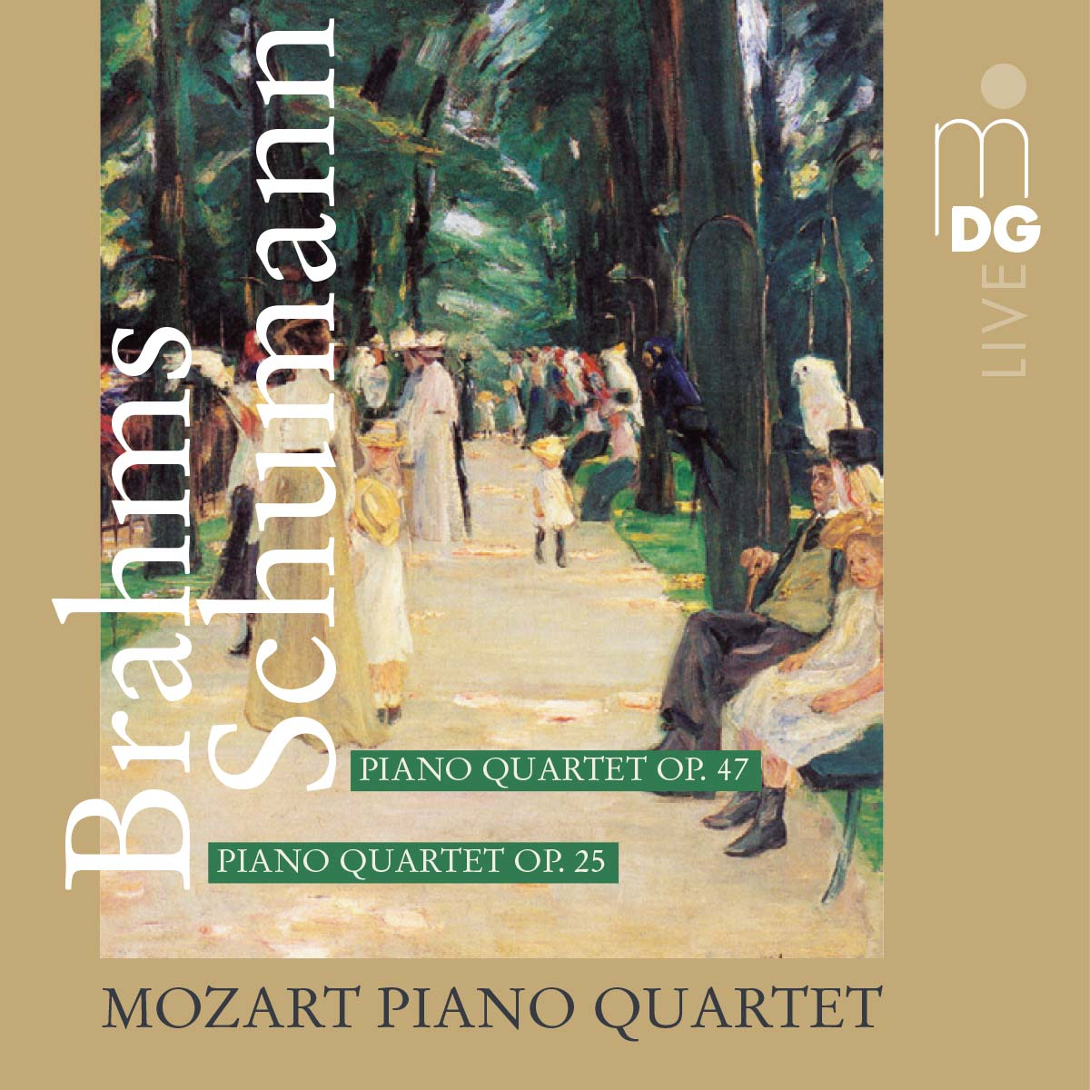 CD Mozart Piano Quartet - Brahms Schumann
