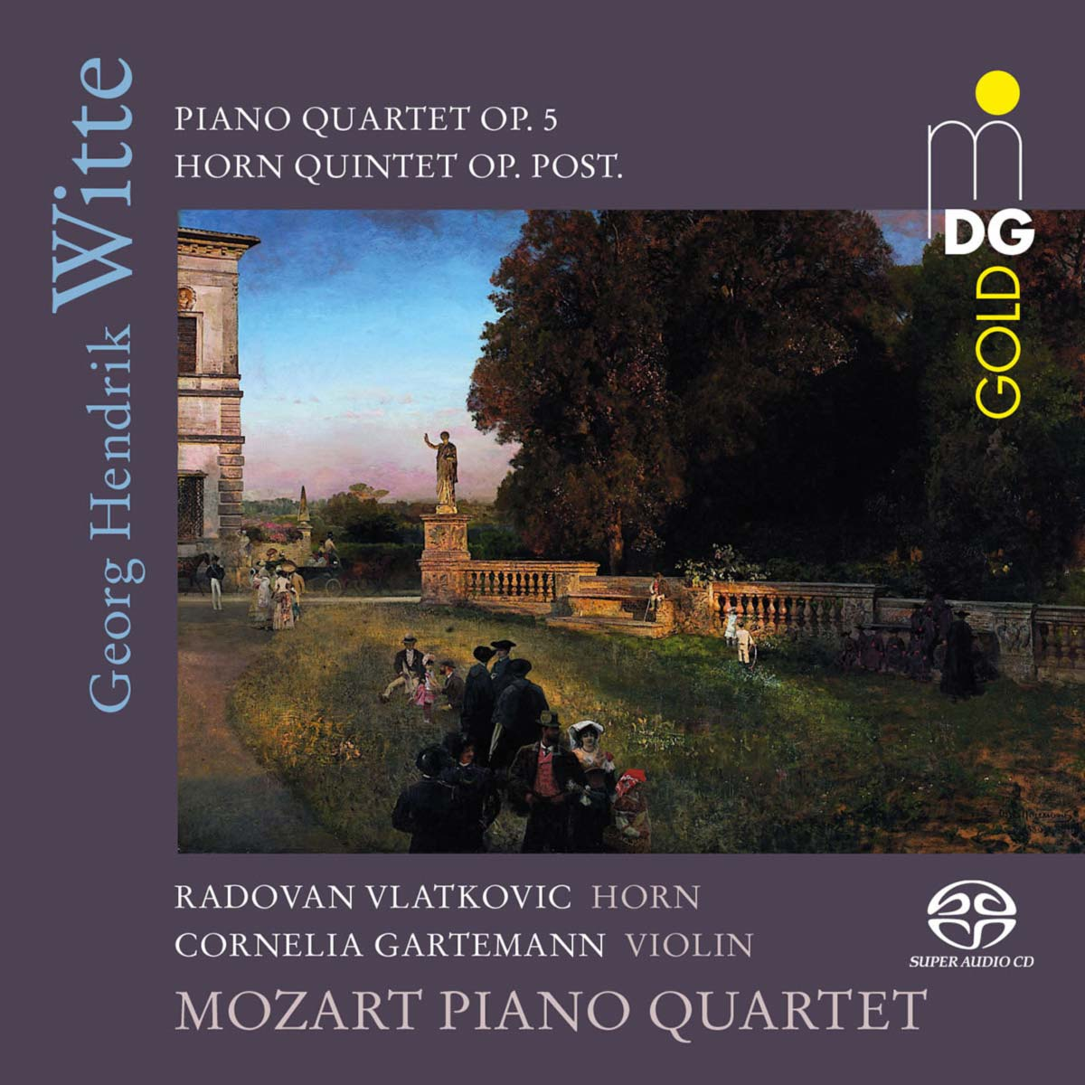 CD Georg Hendrik Witte - Chamber Music by the Mozart Piano Quartet, Cover © Dabringhaus und Grimm Audiovision GmbH